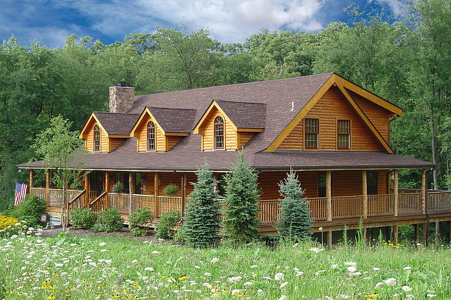 Pittsburgh Log Home Plans Wolfe Run