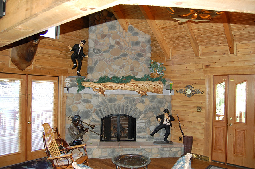 Pittsburgh Log Home Plans Fireplace