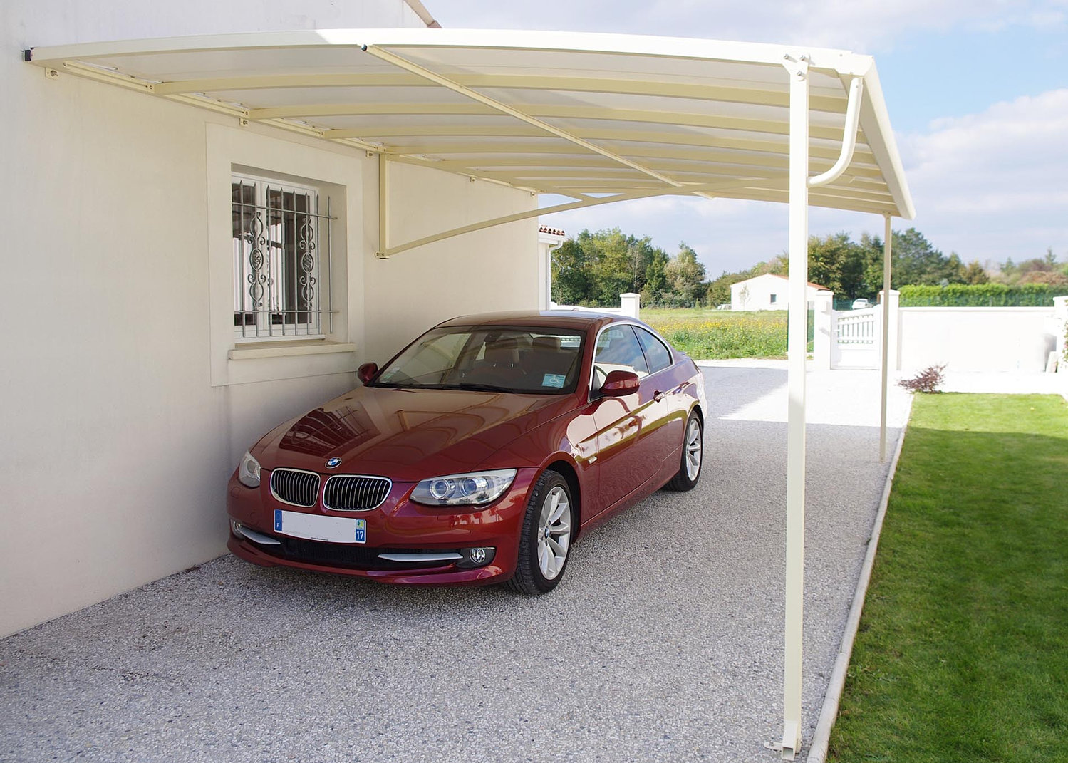 carport pour voiture camping car. Black Bedroom Furniture Sets. Home Design Ideas