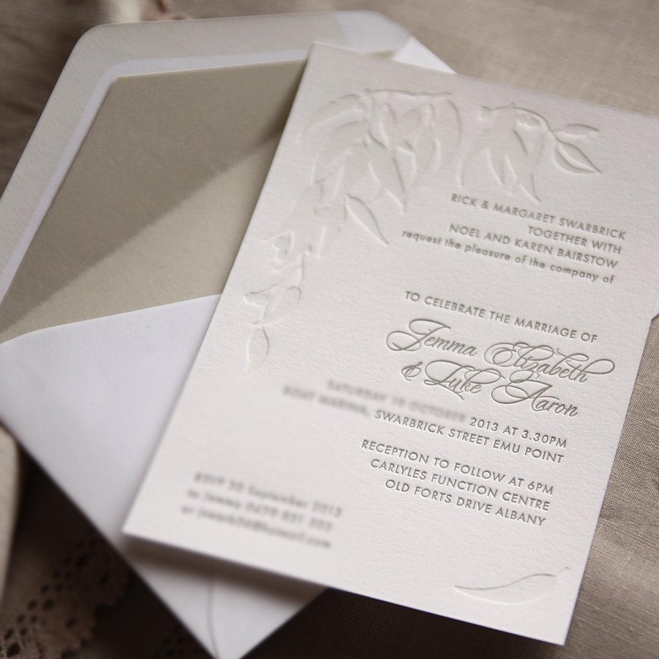 wedding invitations letterpress australia - 28 images - illustrative ...