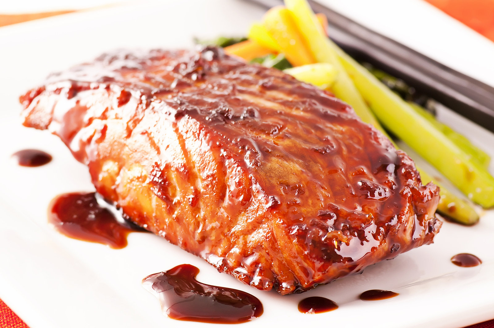 Broil or grill fresh salmon with a glaze of our Oregon style Microbrew ...