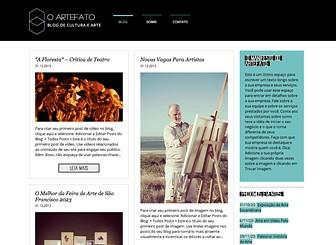 Blog de Arte e Cultura Template - O layout agradável e o design minimalista dão a este template um estilo elegante e moderno. Basta fazer upload de imagens, texto e vídeos para criar os posts para seu blog. Comece a editar e crie um blog incrível de arte e cultura.