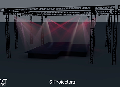6 Synchronized Projectors