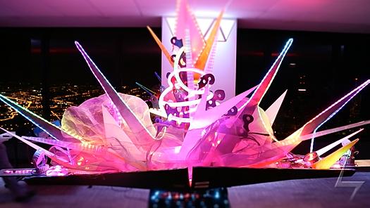 Audio Reactive LED Sculpture