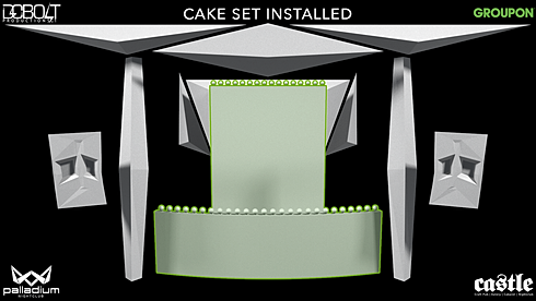 GROUPON CAKE SET PIECES ADDED