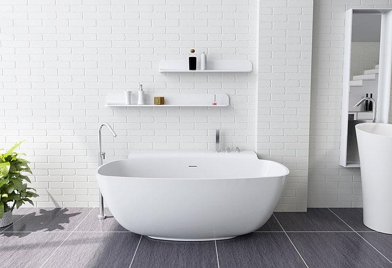 breeza stone bath freestanding. Black Bedroom Furniture Sets. Home Design Ideas