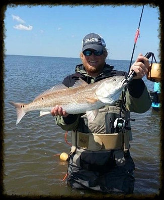 Saltwater fishing guide lee daughdrill redfish trout in for Lake calcasieu fishing guides