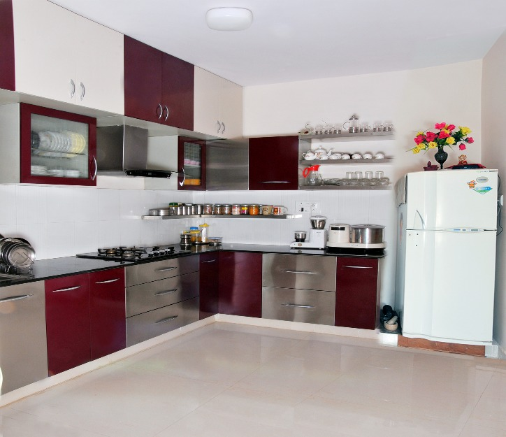 Venezia STAINLESS STEEL FINISH MODULAR KITCHENS - KERALA & BANGALORE