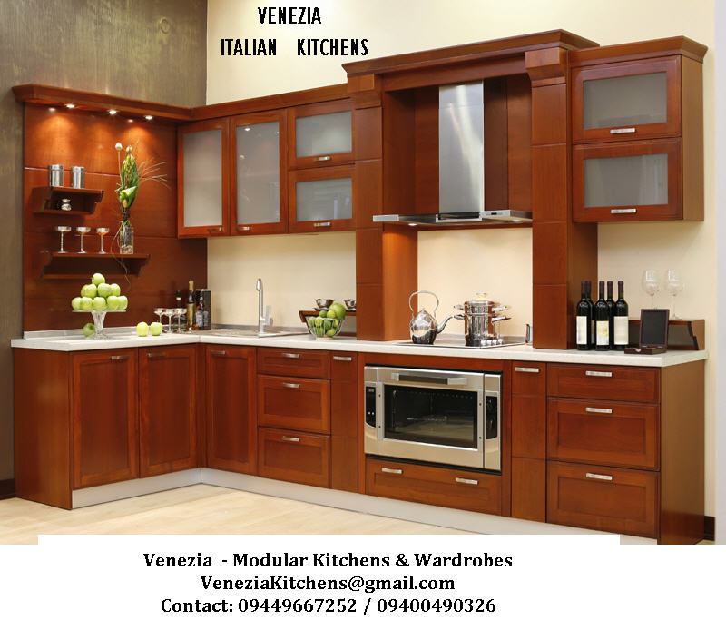 Venezia STAINLESS STEEL FINISH MODULAR KITCHENS