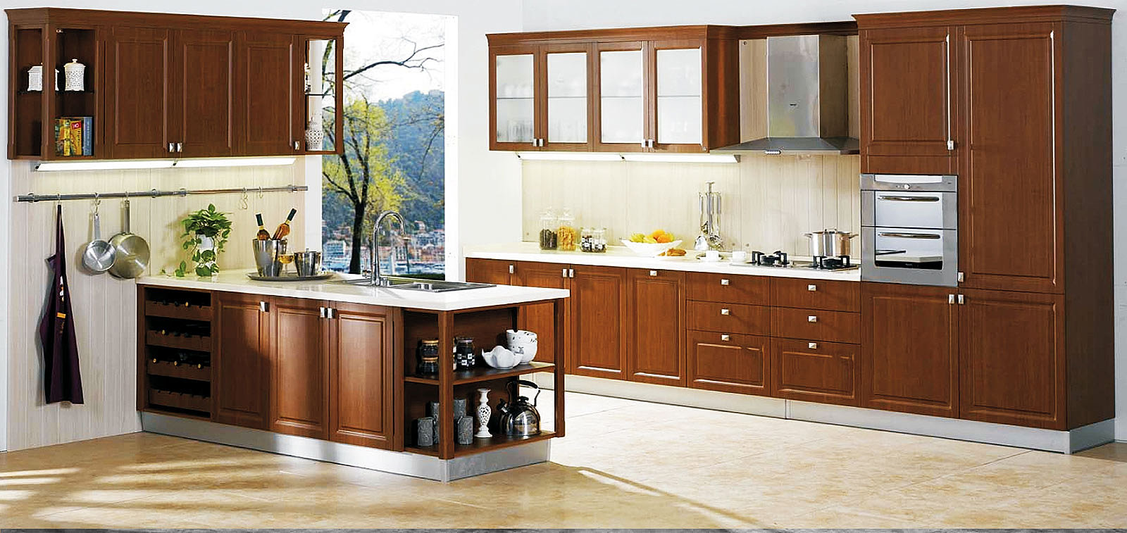 venezia stainless steel finish modular kitchens kerala