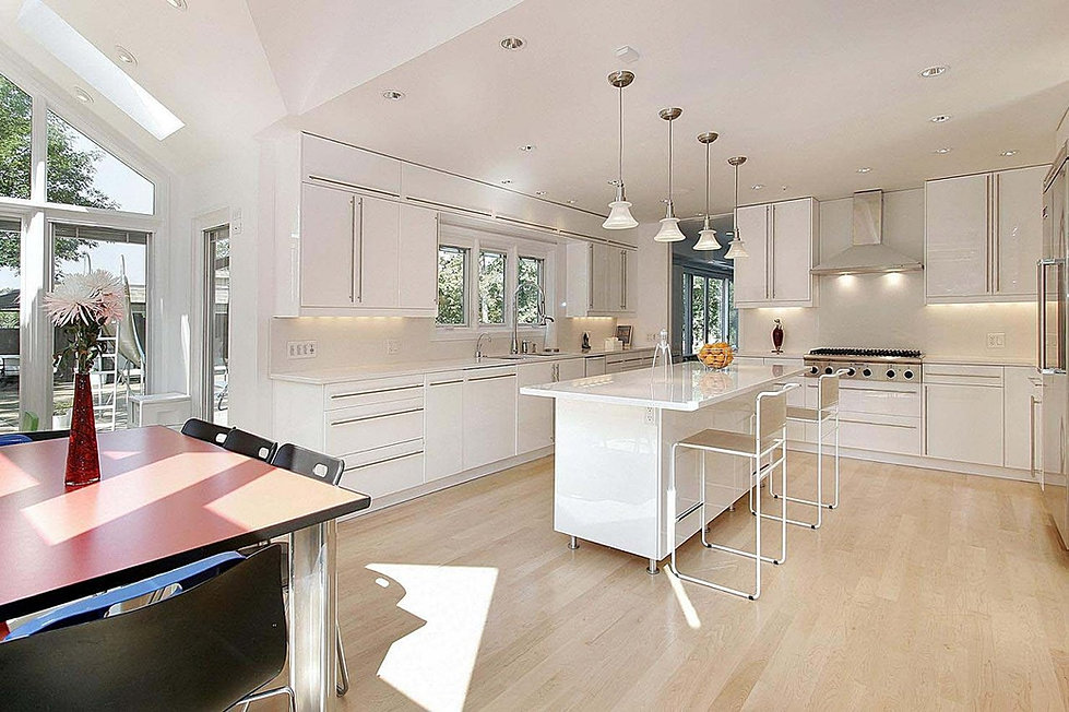 White Kitchen Light Floors forest accents floors
