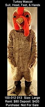 Turkey Mascot Thanksgiving