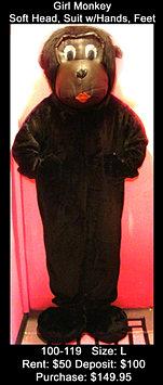 Girl Monkey / Gorilla - Black