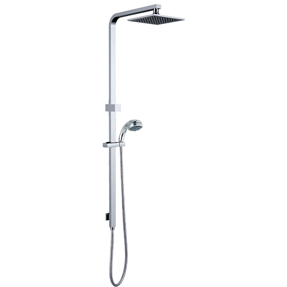 shower system with squar shower head