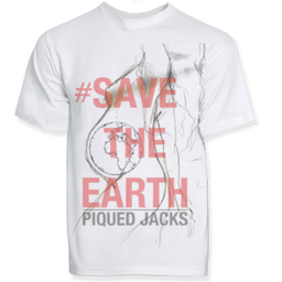 Tshirt save the earth white.png