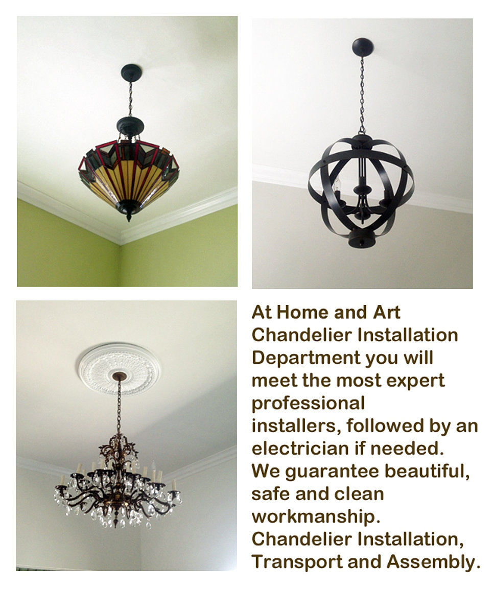 Home and Art Los Angeles Chandelier Installation expert