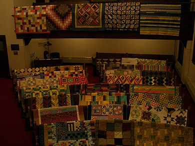 Quilts for a homeless shelter