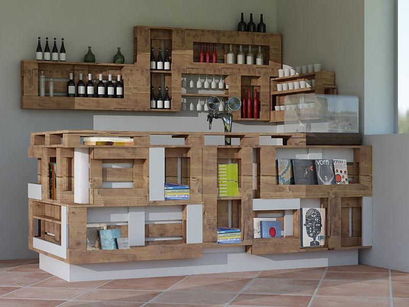 Micreo design del riuso milano bancone e bottigliera - Arredamento della casa con la a ...