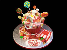 Giant Candy Cupcake cake