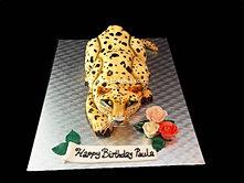 3d Leopard cake bbkakes