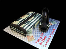 Burberry Purse cake with Shoe