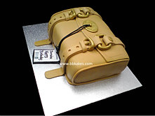 Tan Mulberry Clutch Bag Cake