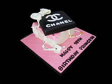 Chanel Gift Box Cake with Pink