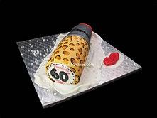 Leopard Print Mac Red Lipstick cake bbkakes