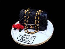Classic Black Chanel Handbag Cake bbkakes