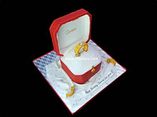 Cartier Love Diamond Ring Cake with earings  bbkakes 3.jpg