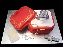 Cartier Diamond Ring Cake