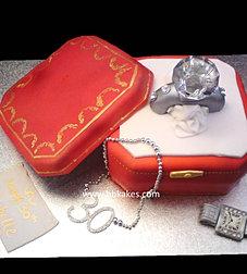 Cartier Diamond Ring Cake