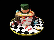 Mad Hatter Theme Cake