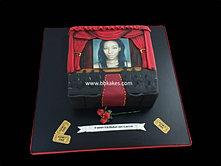 Movie theatre Cake staring Natalie Duvell cake