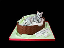 Cat in a basket cake bbkakes