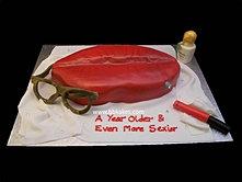 Red lip cake