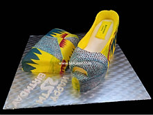Kente Shoe and Bag Cake