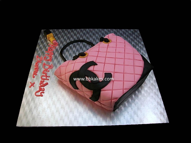 Pink Chanel Purse Cake Classic Pink Chanel Bag Cake