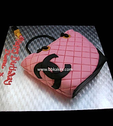 Classic Pink Chanel Bag Cake