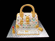 White Louis Vuitton Tote bag Cake