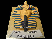 Gold Egyptian Pharaoh cake