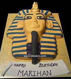 Gold Egyptian Pharaoh cake