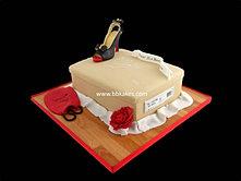 Christian Louboutin Shoe box cake with Peep toe Shoe bbkakes