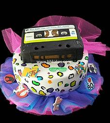 80s Theme two tier Cassette Cake bbkakes 1.jpg