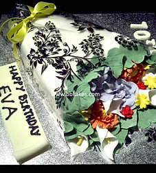 brunch of flowers cake