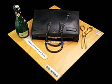 YSL SAC DU JOUR TOTE Bag and Prosecco bottle Cake bbkakes 1.jpg