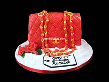 Classic Red Chanel HandBag Cake bbkakes