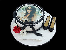 Pretty Photo cake wit Chanel Heels by bbkakes