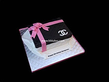 Chanel Box cake With Pink Bow bbkakes