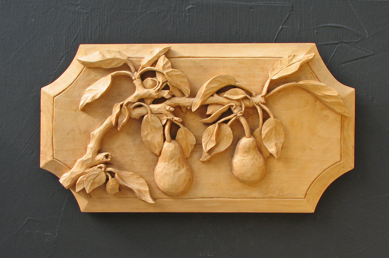 Linda rush illuminations relief woodcarving and acrylic